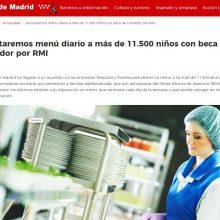 Declaración de la SEDCA y su Fundación sobre los menús para escolares en Madrid durante la crisis del COVID19.