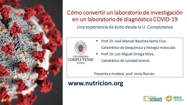Cómo convertir un laboratorio de investigación en un laboratorio de diagnóstico COVID-19