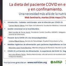 Webinar La dieta del paciente COVID en el hospital y en el confinamiento