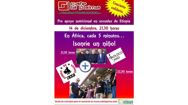 Concierto Solidario el día 14 de Diciembre a las 21.30 h