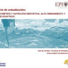 Seminario de actualización: ANTROPOMETRÍA Y NUTRICIÓN DEPORTIVA. ALTO RENDIMIENTO Y DEPORTE ADAPTADO